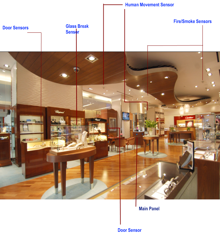 Showroom Security System Jewellery Showroom Alarm Systems